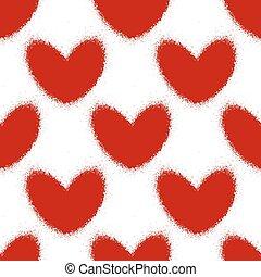 det stänker, mönster, hjärtan, seamless, blod