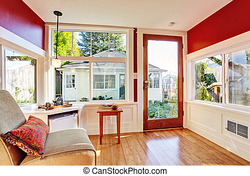 Detached guest house vacation rental cottage. INterior. -...