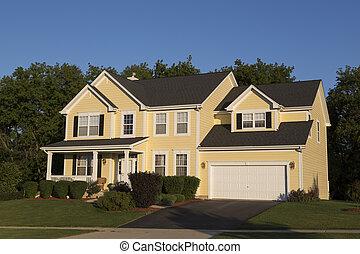 beautiful big detached single family home on a suburban street