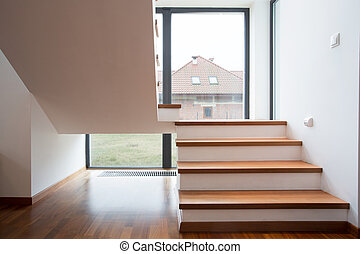 Detached house - View from the window on detached house