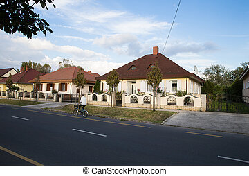 Detached house. Well-kept. Beautiful house. Detached house with ornamental trees and flowers around.
