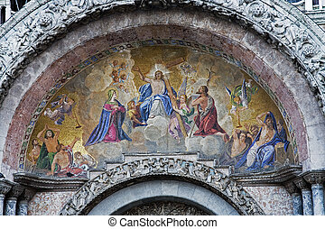 Venice - Detail above Doorway St Mark s Basilica Venice...
