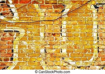 Detail antique billboard