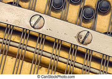 Detail, Antique Piano - Photo of detail taken from an...
