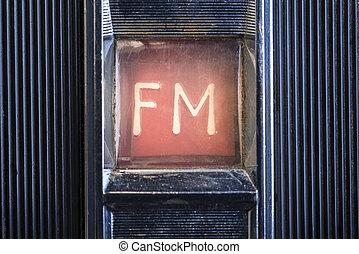 detail, auf, grungy, und, altes , radio