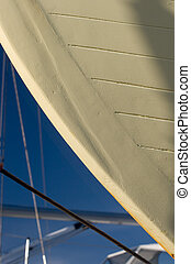 Detail, Boat Hull, Dry Dock - Photo of a detail of a...