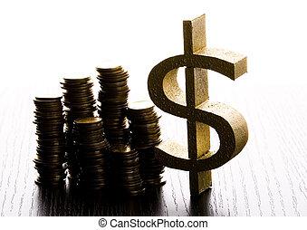 detail, closeup, dolar, bystrý, finanční machinace,...