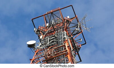 detail., communication, tower.