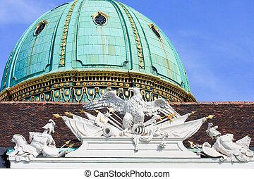 Detail der Kuppel und des Dachs der Wiener Hofburg - Detail...