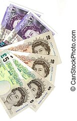 detail english banknotes