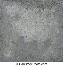 detail from a grungy gray tile with white mark