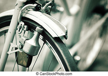 bicycle - Detail from a old bicycle , shallow DOF , retro...
