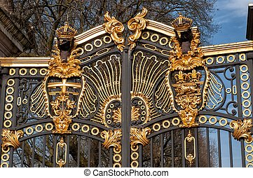 Detail from decoration of golden gate