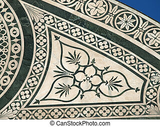 Detail from facade of Santa Maria Novella - Florence
