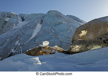 Detail from ice in front of glacier.