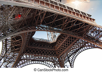 Detail from of the Eiffel Tower