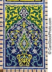 detail from Registan - Samarkand - Uzbekistan