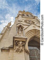 Detail from Sainte Anne Church in Montpellier, France