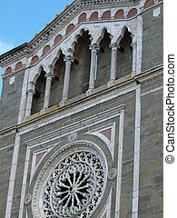Detail from the facade of the church of St. Margaret of Cortona