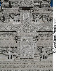 Detail from the Royal Palace in Phnom Penh, Cambodia
