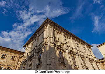 Montepulciano - Detail from town Montepulciano in Tuscany, ...