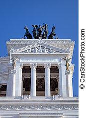The Monumento Nazionale a Vittorio - Detail if The Monumento...