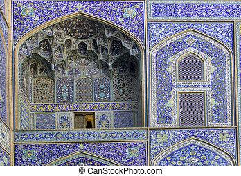 Detail Imam Mosque, Isfahan, Iran