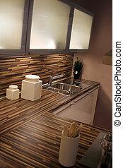 kitchen - detail in a modern and new kitchen