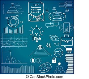 Detail infographic vector illustration. Information Graphics. Concept - business, economics, finance