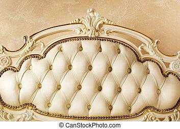 detail., interior, lujo, muebles