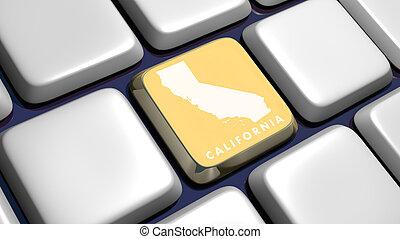 (detail), mapa, california, llave, teclado