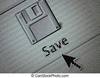 detail, o, jeden, rozhraní, computersave, knoflík, a, neurč. člen, šipka, myš, kurzor