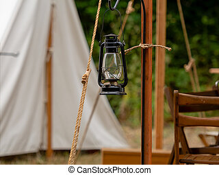 Detail of 1800 gold rush or civil war camp - Old 1800s gas ...
