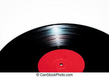 Detail of 33 rpm vinyl record
