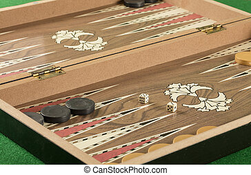backgammon game with two dice