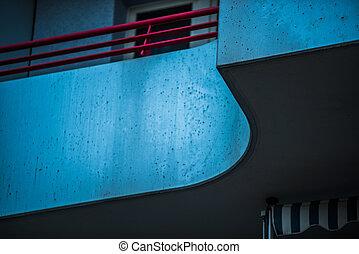 detail of a balcony in Berlin, Marzahn