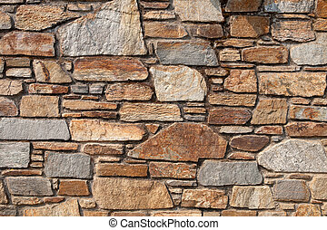 Detail of a brown brick wall