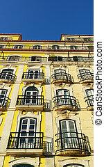 Detail of a building, Lisbon, Portugal