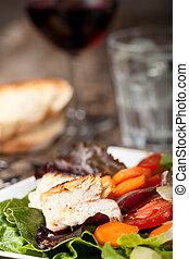 detail of a chicken salad