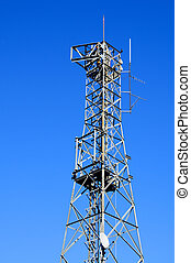 communications tower - detail of a communications tower over...