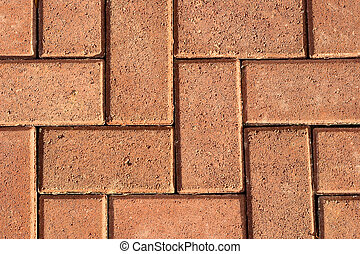 Detail of a concrete sidewalk - Stones roadway close up for ...