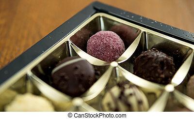 sphere chocolate cakes