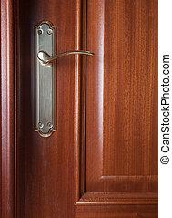 Detail of a door with handle