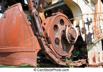 Detail of a excavator
