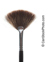 detail of a fan brush - detail of a powder, fan brush, shot...