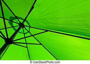 detail of a green sunshade