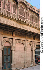 detail of a house in Bikaner