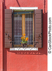 Detail of a house in the island of Burano - Venice - Italy
