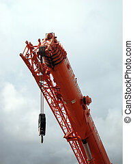 Detail of a large truck crane
