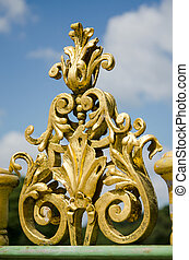 Detail of a metal fence of the 18th century in Potsdam, Brandenburg, Germany